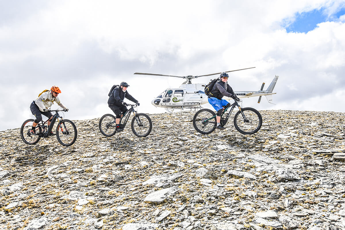 Heli bike tours